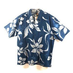 Quicksilver XL Buttoned Down Hawaiian Shirt NWT